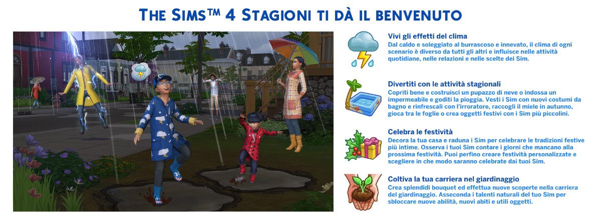 the sims 4 Stagioni review benvenuto