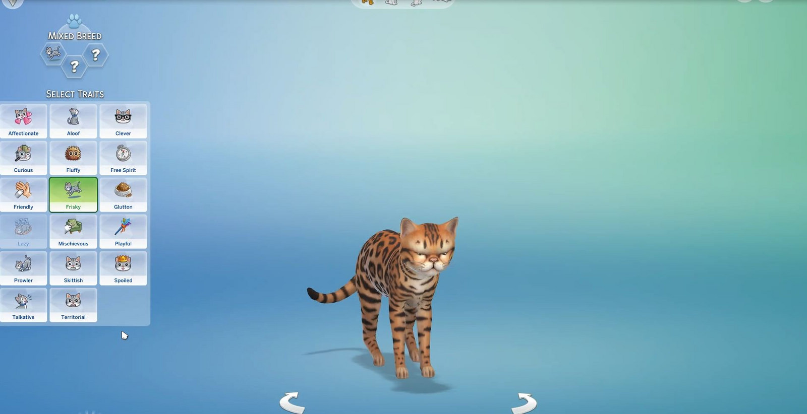 TS4 ep04 cat traits