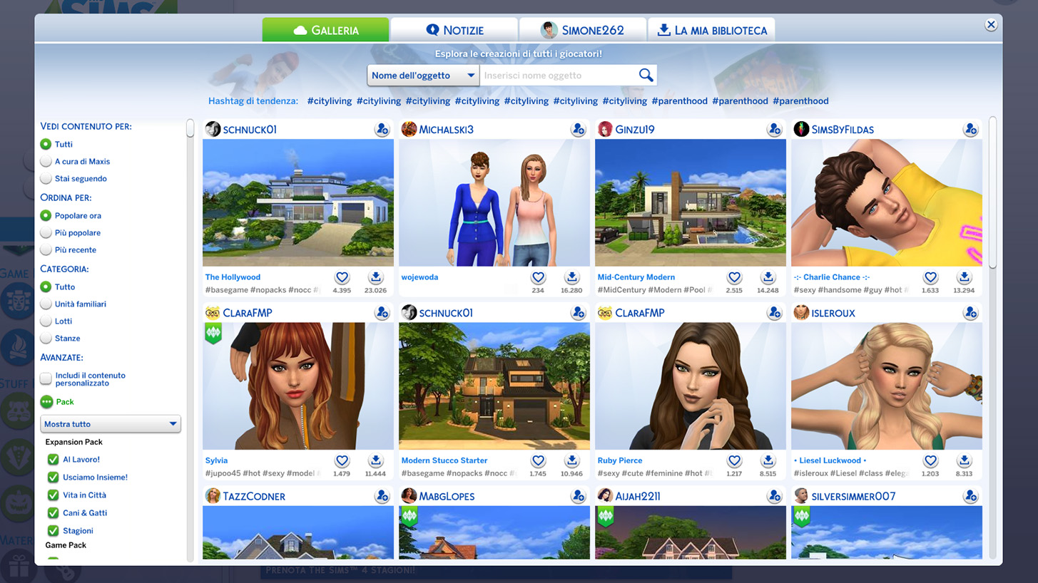 The Sims 4 Gallerria