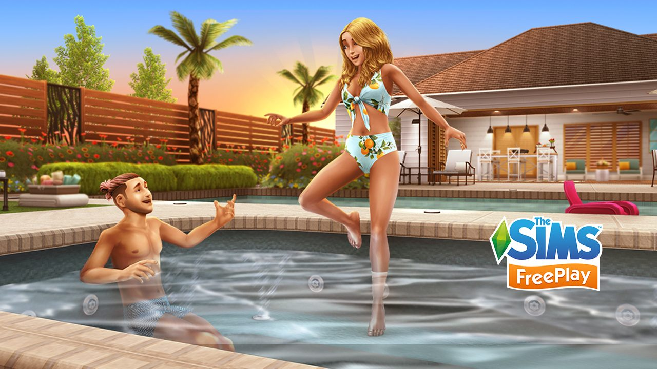The Sims FreePlay Pool Paradise Update