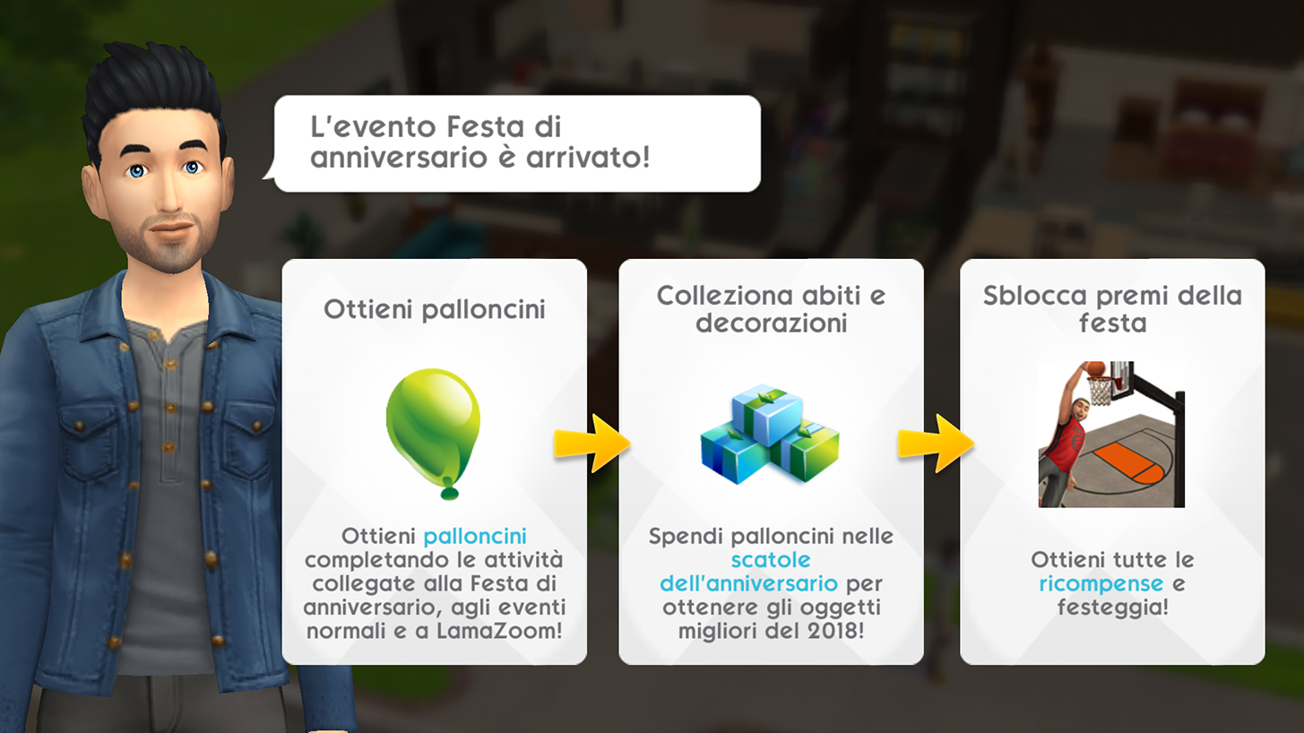 The Sims Mobile Primo Anniversario