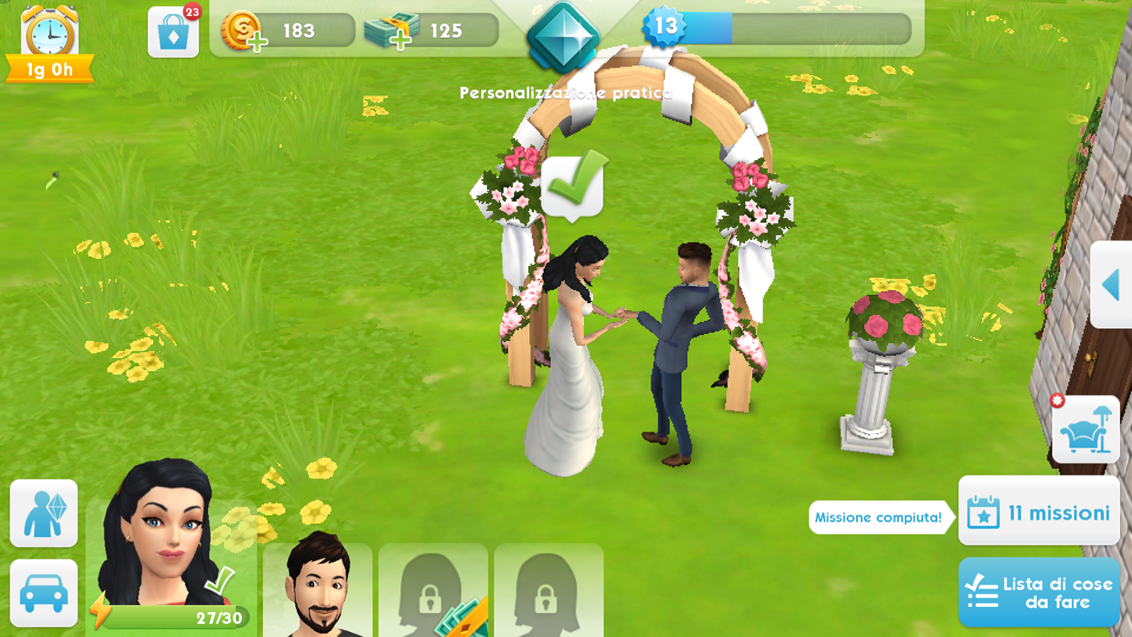 the sims mobile matrimonio evento