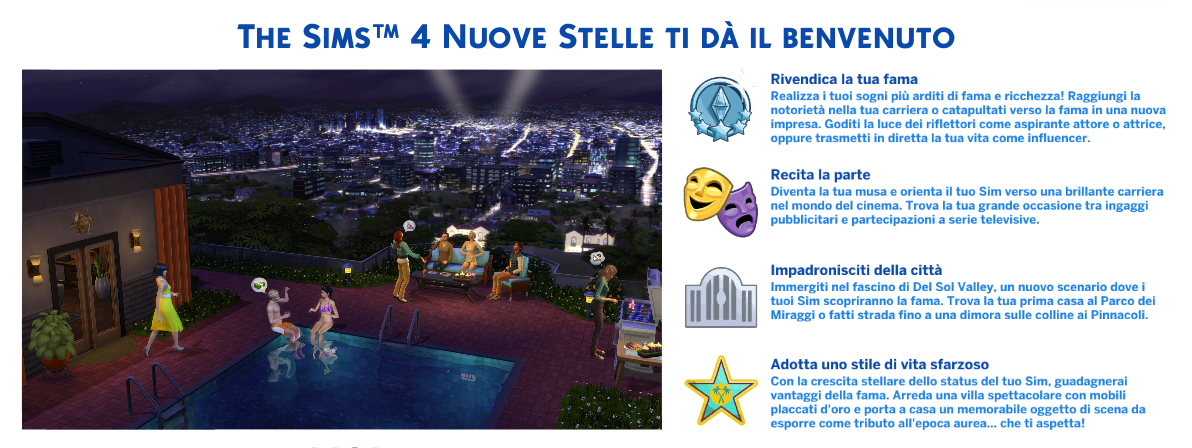 the sims 4 Nuove Stelle review benvenuto
